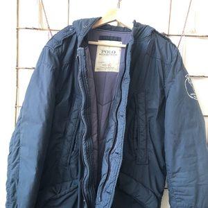 Navy Ralph Lauren polo winter jacket